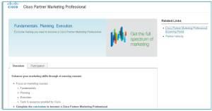 Cisco Marketing Professional site