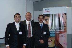 Cisco México con  Alonso Almaraz  y Jesús Israel Illescas