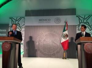 John Chambers - and President Enrique Peña