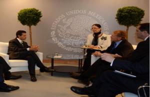 John Chambers in meeting with president Peña Nieto