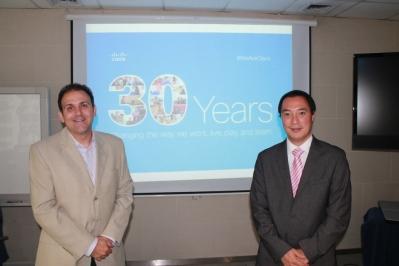 Juan Pablo Estévez - Director Regional de Cisco MCO y Gabriel Sakata - Gerente General de Cisco Argentina, Paraguay y Uruguay
